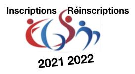 Inscriptions réinscriptions 2021/2022